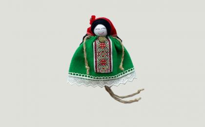 green lavender doll with hat ise