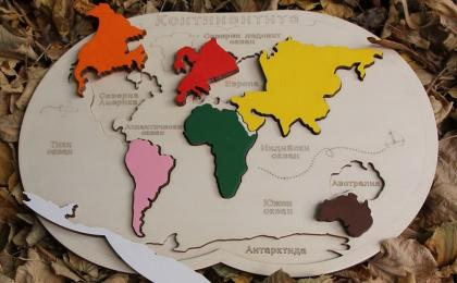 "Puzzle "" Map of the world"""