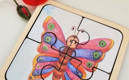 Wooden puzzle Butterfly 1